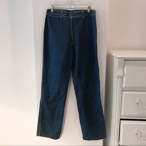 Vintage Jeans with Pocket Embroidery